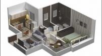 Những cách bố trí căn hộ 1 phòng ngủ cho gia đình trẻ
