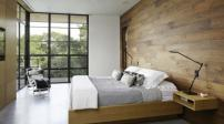Phòng ngủ ấm áp với chất liệu gỗ