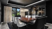 Phòng ăn với màu đen quyến rũ