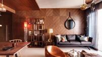 Nội thất gỗ tinh tế cho căn hộ ấm áp