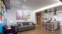 Thiết kế màu sắc tươi vui cho căn hộ 70m2