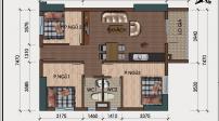 Bố trí nội thất đẹp mắt cho căn hộ có 3 phòng ngủ