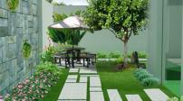 Cách trồng cây xanh trong sân nhà hợp phong thủy