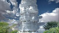 """Toà nhà chọc trời """"sống giữa những đám mây"""""""