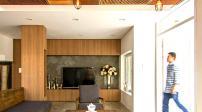 Nhà thêm thanh lịch với trần bằng gỗ
