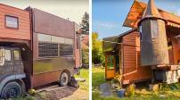 Hô biến xe tải cũ thành ngôi nhà di động