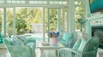 Nội thất xanh bạc hà cho nhà giảm nhiệt
