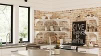 Gợi ý cách trang trí nội thất bằng tường gạch thô