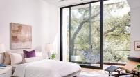 Thiết kế phòng ngủ siêu đẹp với vách kính cường lực