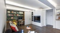 Thiết kế độc đáo bức tường di động trong căn hộ 36m2