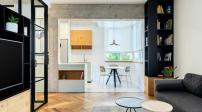 Thiết kế căn hộ 53m2 tiện ích kiếm văn phòng làm việc tại gia