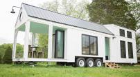 Thiết kế ngôi nhà nhỏ gắn bánh xe di động tuyệt đẹp