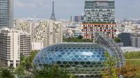 Độc đáo tòa nhà hình cầu xoay theo hướng mặt trời ở Paris