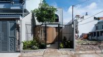 Nhà Tp.HCM trắng muốt nổi bật với sân vườn cách điệu