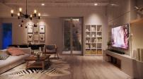 Gợi ý thiết kế phòng khách kết nối các phòng trong nhà