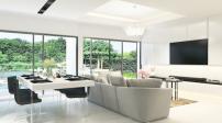 Thiết kế phòng khách hiện đại tràn ngập ánh sáng tự nhiên
