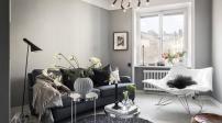 Thiết kế căn hộ nhỏ màu trắng xám tuyệt đẹp