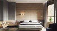 Gợi ý cách thay đổi nội thất phòng ngủ bằng tường gỗ