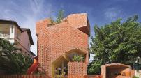 Kiến trúc gạch mộc lạ mắt của trường mầm non ở Tp.HCM