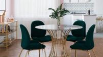 12 mẫu bàn ăn bằng kính giúp phòng ăn sang trọng hơn