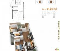 Thiếu tiền bán căn 84,25 m2, 2PN, 2WC Five Star - Kim Giang, giá 22 tr/m2. Lh 098.111.5218.
