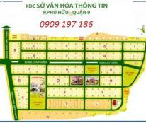 Bán đất dự án Sở Văn Hóa Thông Tin, quận 9. Giá tốt nhất. LH: 0909197186