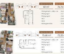 Cần tiền bán gấp CH 04G2 chung cư Five Star – số 2 Kim Giang, dt 76.76m2, 2PN
