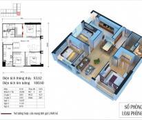 Cần bán nhanh căn góc số 06 tòa CT4 chung cư Eco Green City, căn 93,98m2, 3pn, 2vs, giá cắt lỗ