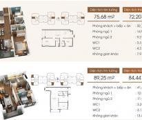 23 tr/m2, chung cư Five Star, căn 1509 diện tích 72,2 m2, 2 phòng ngủ view bể bơi