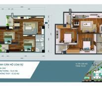 Bán căn hộ chung cư Ngoại giao đoàn tòa N04A 67m2 giá rẻ