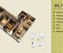 Siêu rẻ! Cần bán căn 08 tòa V2 (85.17m2) căn 3PN, ban công Đông Nam, liên hệ: 0963/565/236