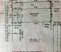 Bán nhà cấp 4, sổ hồng, đường 3m, DT 6x12. Giá 2 tỷ
