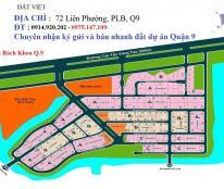Bán đất nền dự án Bách Khoa, p.Phú Hữu, Quận 9, lô 2 mặt tiền, giá 19,8tr/m2