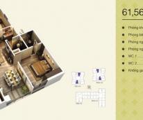 Chung cư Home City - 177 Trung Kính, bán căn hộ 61,56m2, căn 20.16 tòa V1, giá siêu rẻ (0963565236)