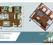 Bán chung cư Công vụ N04A Ngoại giao đoàn căn số 8 diện tích 78m2 giá 24tr/m2