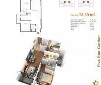 Cần bán Five Star Garden, căn 1 G2 diện tích 73.89 m2 /2PN/2WC