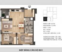 Bán căn 77,6m2-2 ngủ- 2WC - Chung cư Hong Kong Tower-0989704285