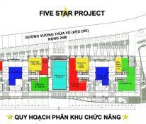 BQL cho thuê siêu dự án Five Star Garden, nhà hàng, showroom, hiệu thuốc, cafe 0944 727 645