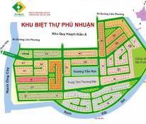 Bán gấp đất nền trục chính dự án Phú Nhuận Q9, 2 mặt tiền diện tích 355m giá 26.5tr/m2