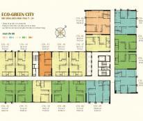 Bán nhà giá 1,8 tỷ căn hộ chung cư Eco Green City, căn số 12 tòa CT4, diện tích 66,62m2, (2PN)