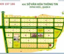 Bán đất sổ đỏ dự án Sở Văn Hóa Quận 9, DT 100m2, giá 18tr/m2