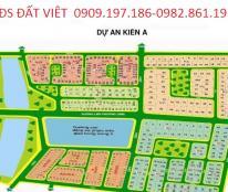 Bán gấp đất nền dự án Kiến Á lô KB 153 DT 5x25m giá 23tr/m2(0909197186)