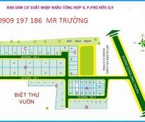Bán đất dự án Xuất Nhập Khẩu Quận 9, sổ đỏ ( 17tr/m2), hướng Nam