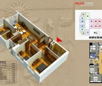 Căn góc 2 mặt thoáng, DT 98,5m2, 3 phòng ngủ, chung cư 75 Tam Trinh, giá bán thương lượng