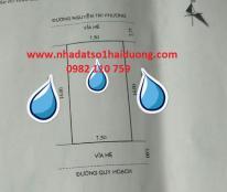Cần bán đất Nguyễn Tri Phương, Hải Dương, Giá bán 20 triệu/m2