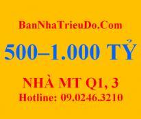 Bán nhà MT 208 Nguyễn Trãi, Quận 1. Giá 580 tỷ_ DS nhà MT: 500-1000 tỷ