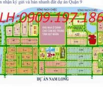 Bán đất biệt thự sổ đỏ khu dân cư Nam Long, quận 9, DT 240m2, giá 25tr/m2, LH 0909 197 186