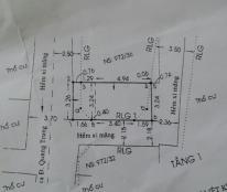 Bán nhà hẻm xe hơi, đường Quang Trung, P.8, Gò Vấp – 1,42 tỉ