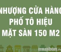 Nhượng cửa hàng phố Tô Hiệu, mặt sàn 150m2; 300tr, 0905182775