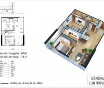 Bán căn 09 tòa CT4 chung cư Eco green city, diện tích 67m2 (2pn ), ban công ĐN, lh cc 0968 099 693